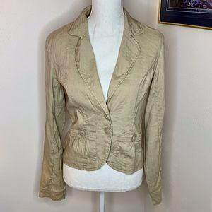 Mossimo Tan Long Sleeve Linen Blend Blazer